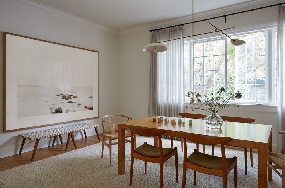 A Whitewashed Mod Farmhouse Dining Room