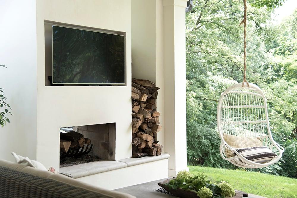 Built-In Outdoor Fireplace