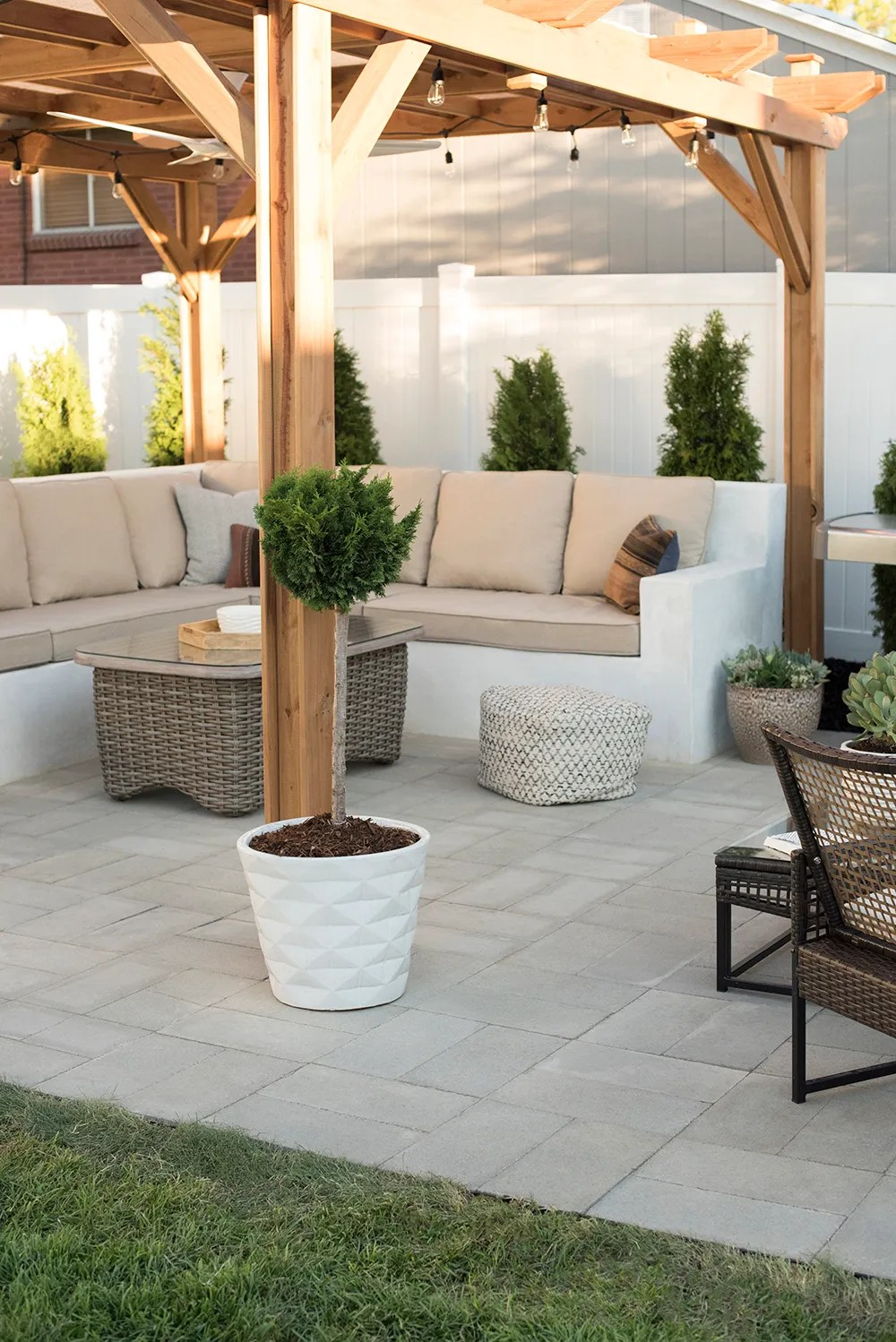 How to Install A Custom Paver Patio - Room for Tuesday Blog