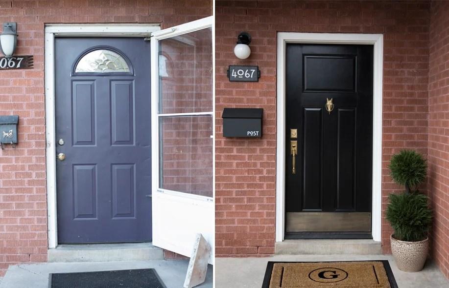 Front Door Before : After