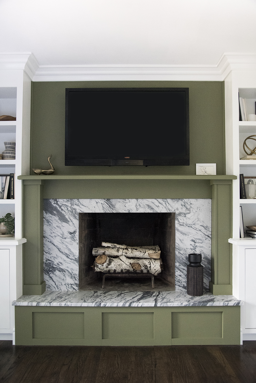Green Fireplace Surround