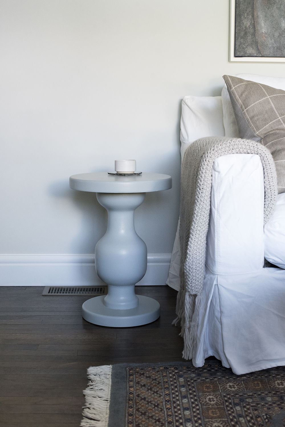 Side Table by Sofa