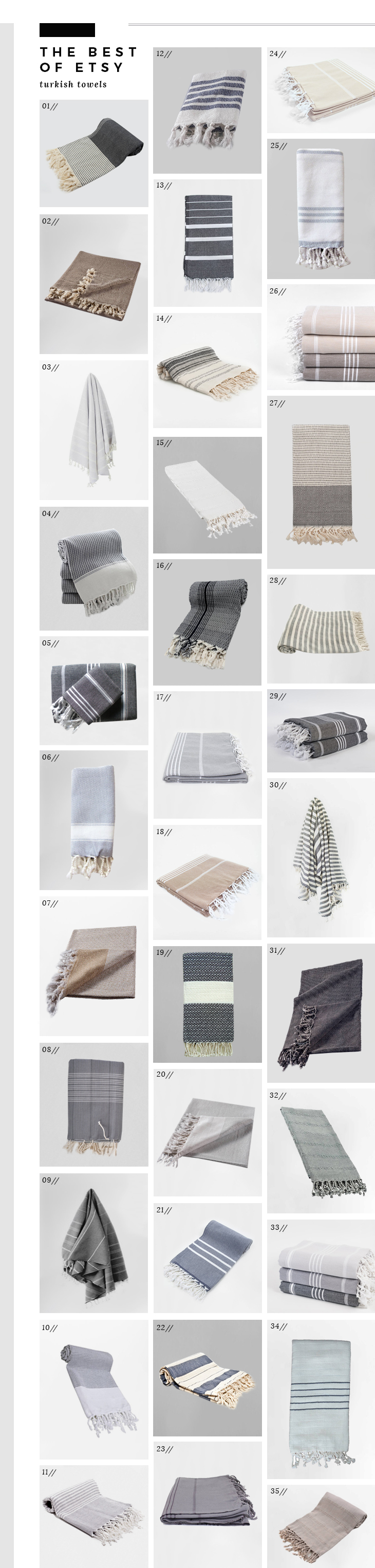 Best of Etsy - Turkish Towels