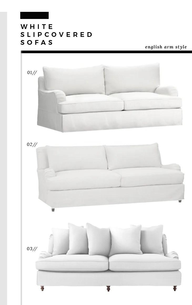 English Arm Slipcover Sofas