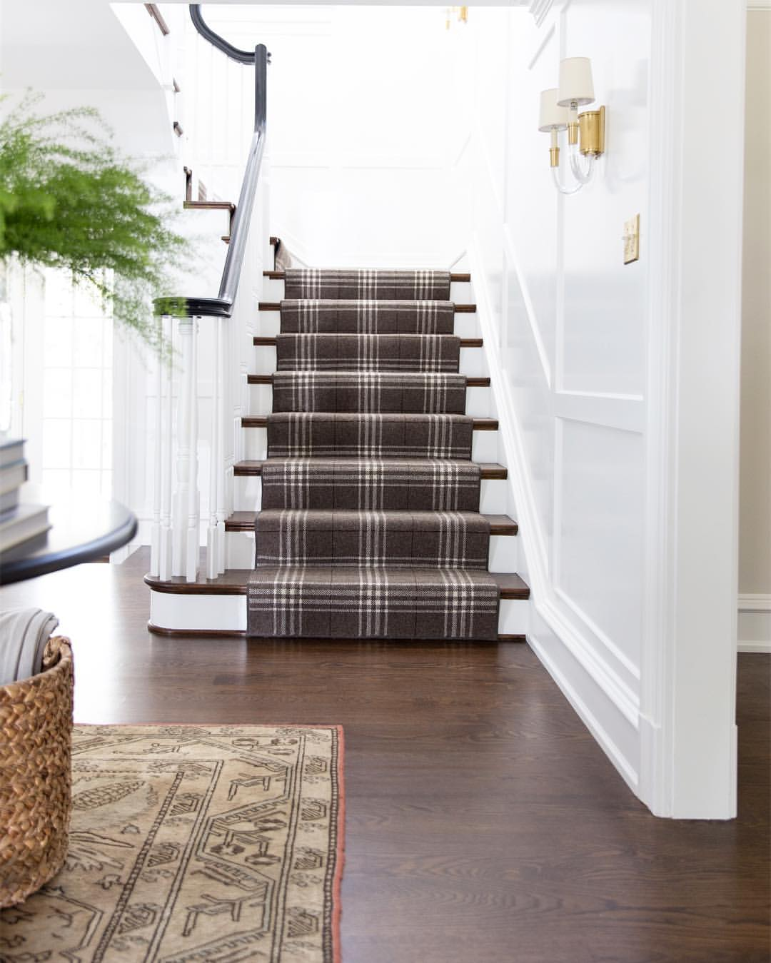 Plaid Stair Runner