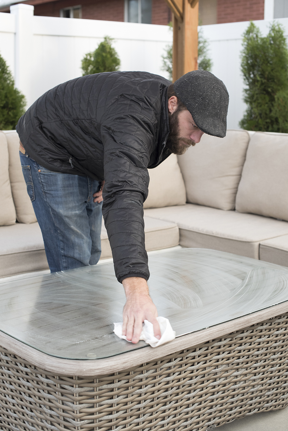 Cleaning an Outdoor Living Space