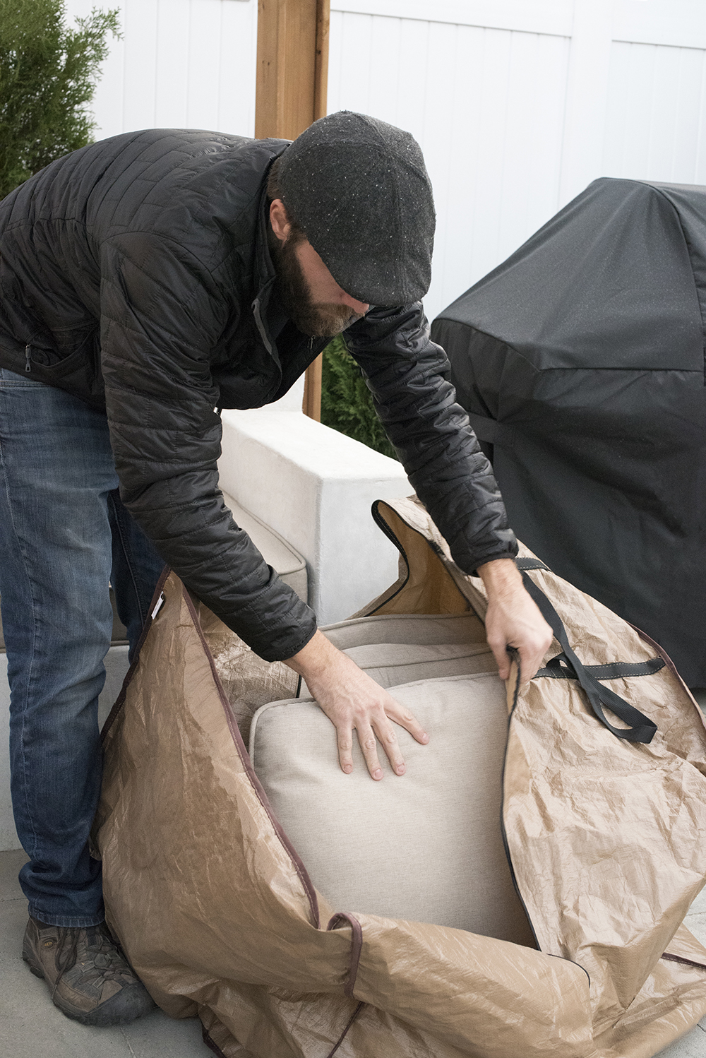 Storing Outdoor Cushions for the Winter