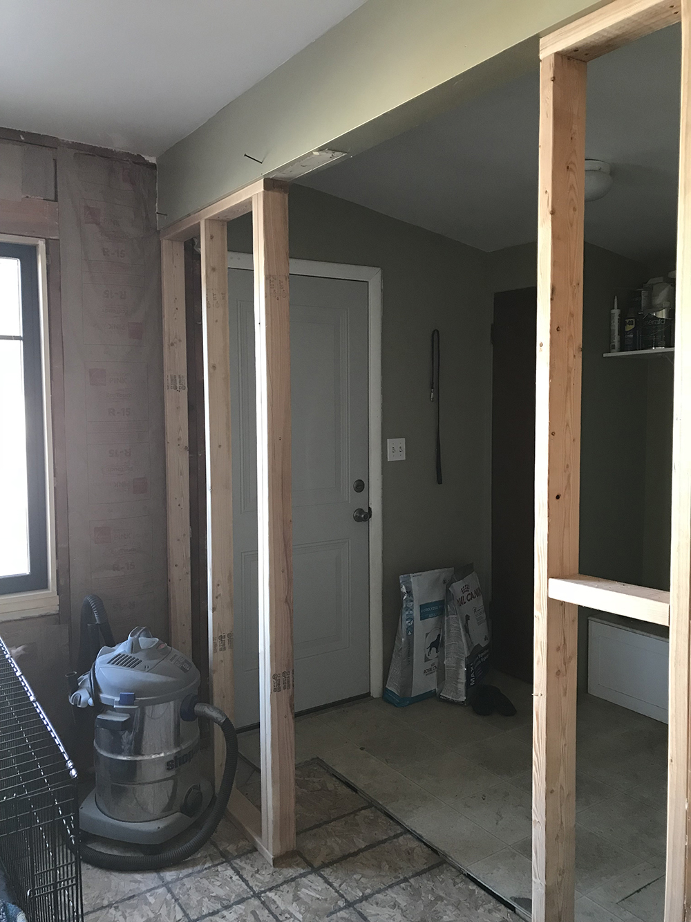 Framing Walls in The Kitchen