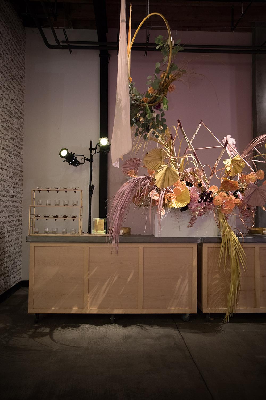 Oversized Floral Arrangement at Bar