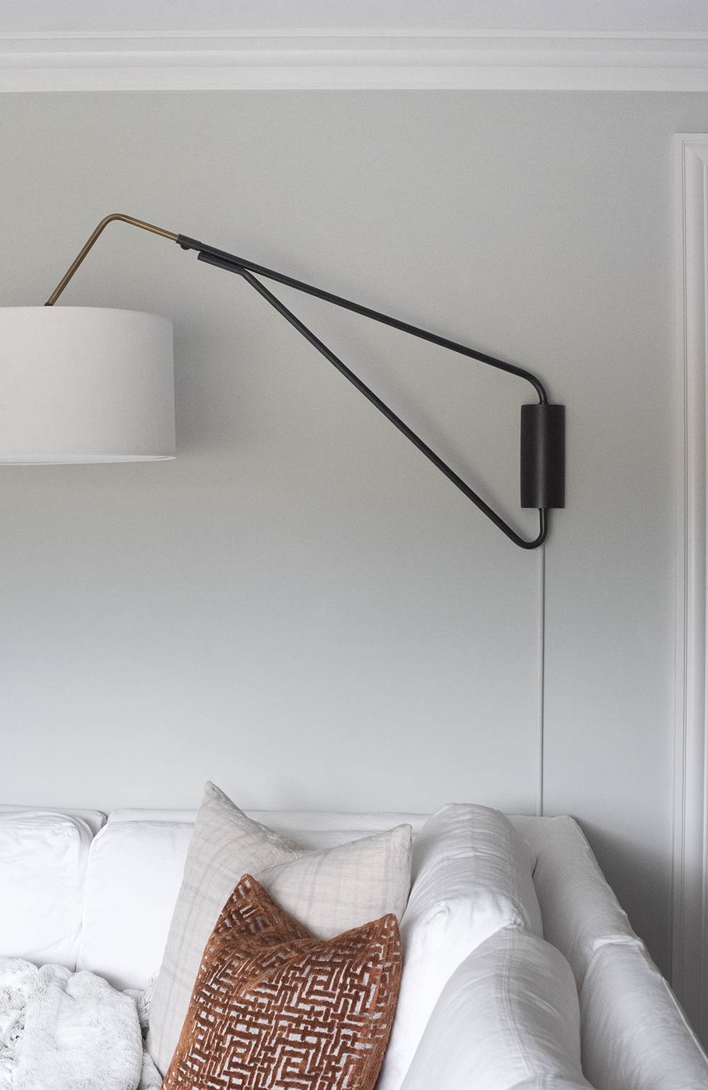 How to Hide Light Fixture Cords - roomfortuesday.com