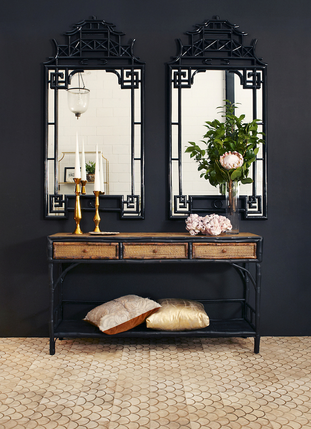 March Moodboard Black Rattan - roomfortuesday.com