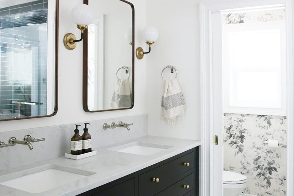 Organic Wallpaper for a Powder Room - Room for Tuesday