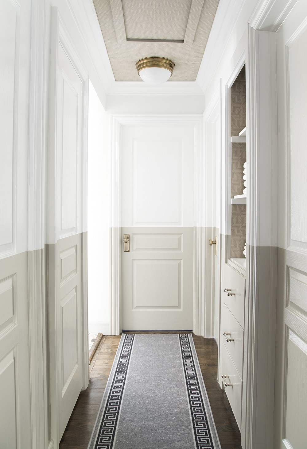 Neutral Hallway Runners that Add Pattern & Texture - roomfortuesday.com