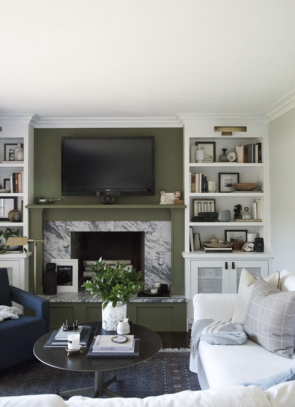 Living Room Built Ins And Marble Fireplace Room For Tuesday