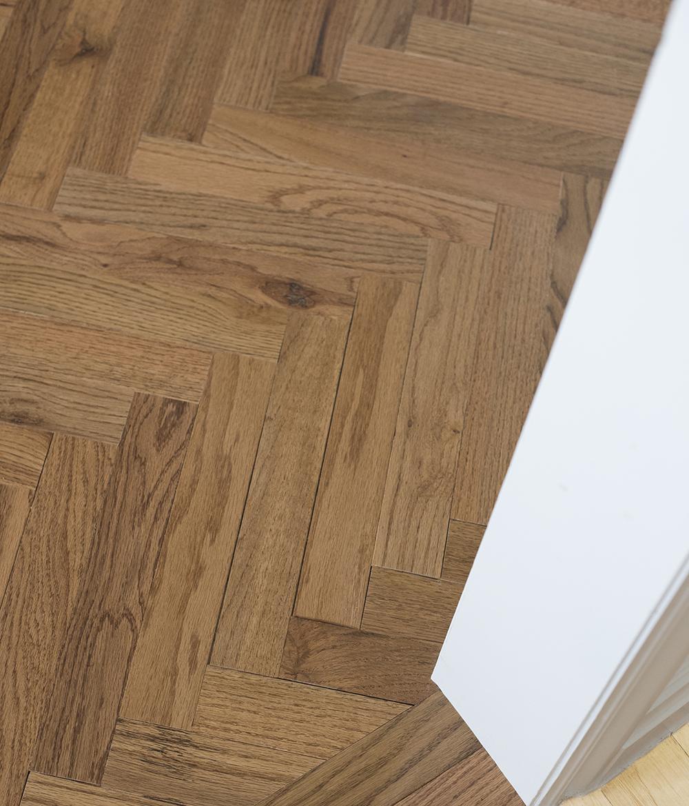 How to Install Herringbone Hardwood Flooring - roomfortuesday.com
