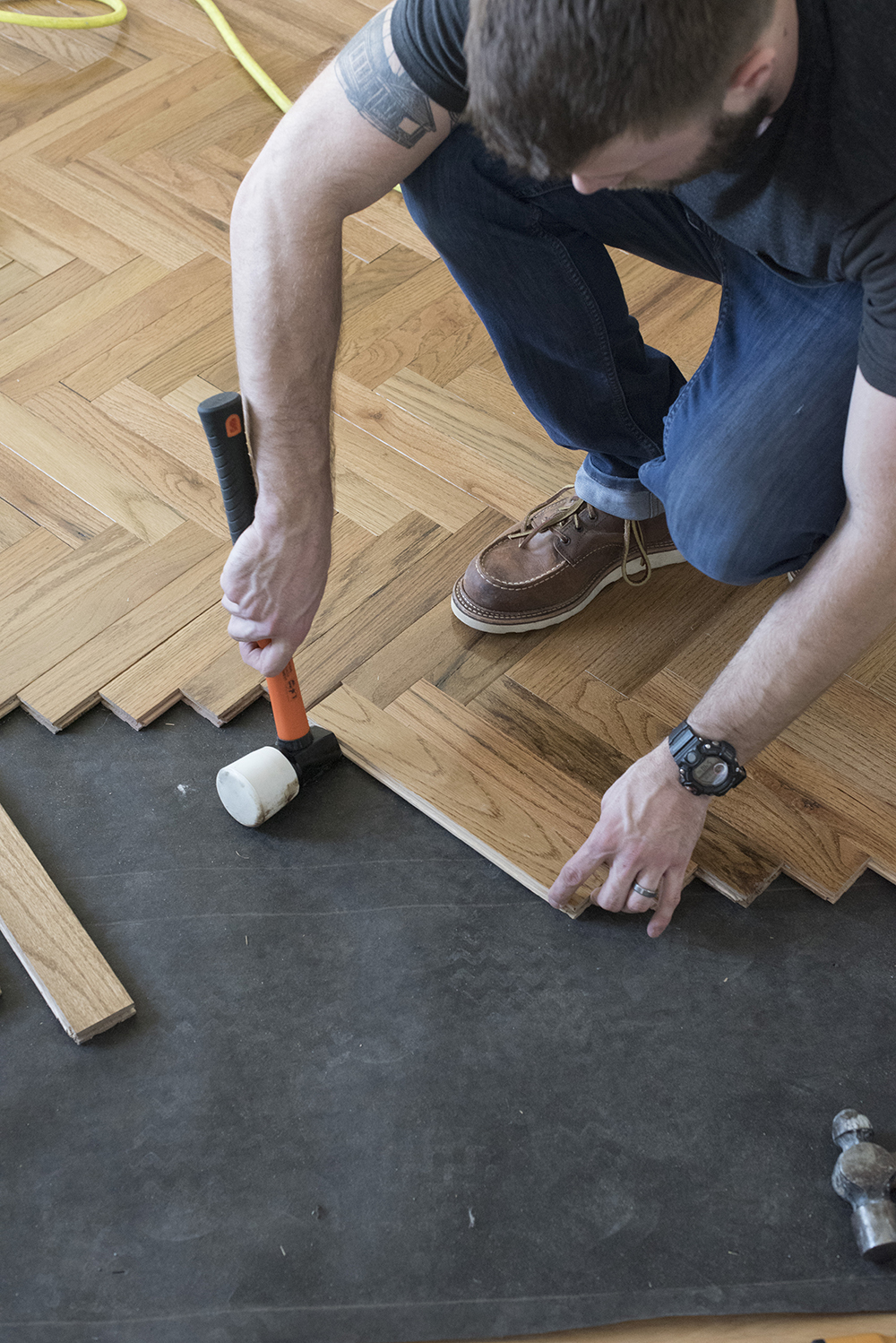 How To Install Herringbone Hardwood Flooring Room For Tuesday
