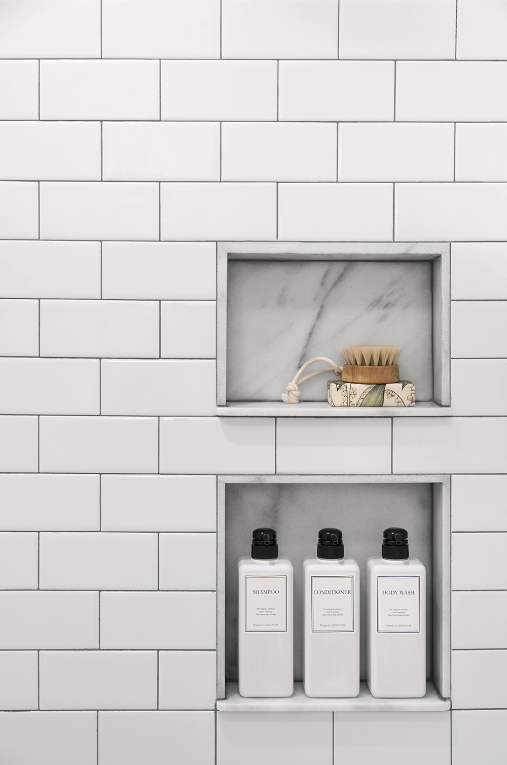 Subway Tile Shower Niche.Marble Shower Niche Surrounded By Subway Tile Room For Tuesday