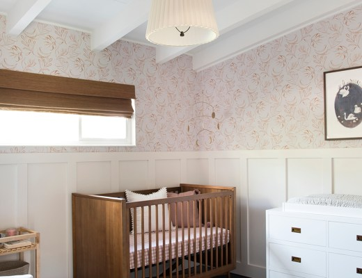 Mid Century Nursery Makeover - roomfortuesday.com