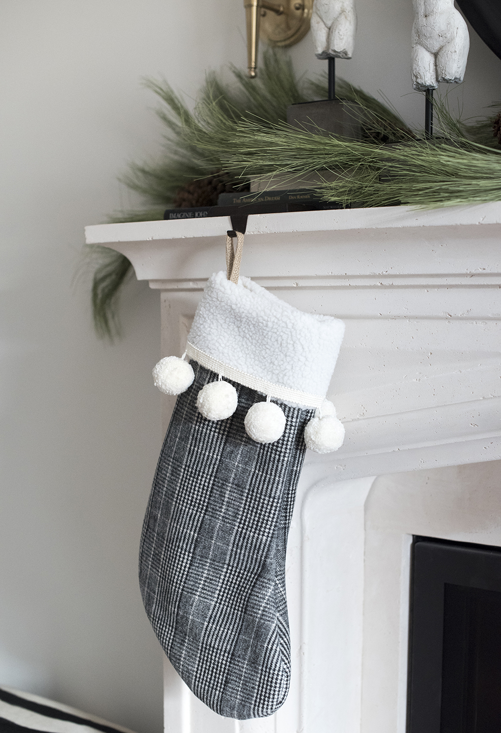 Slipcover Christmas Stocking DIY - roomfortuesday.com