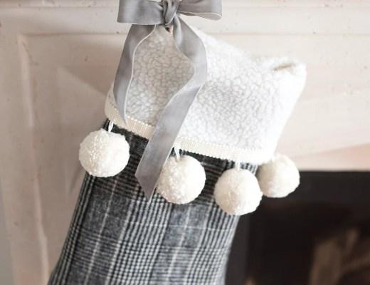 Slipcover Christmas Stocking DIY - roomfortuesday.com