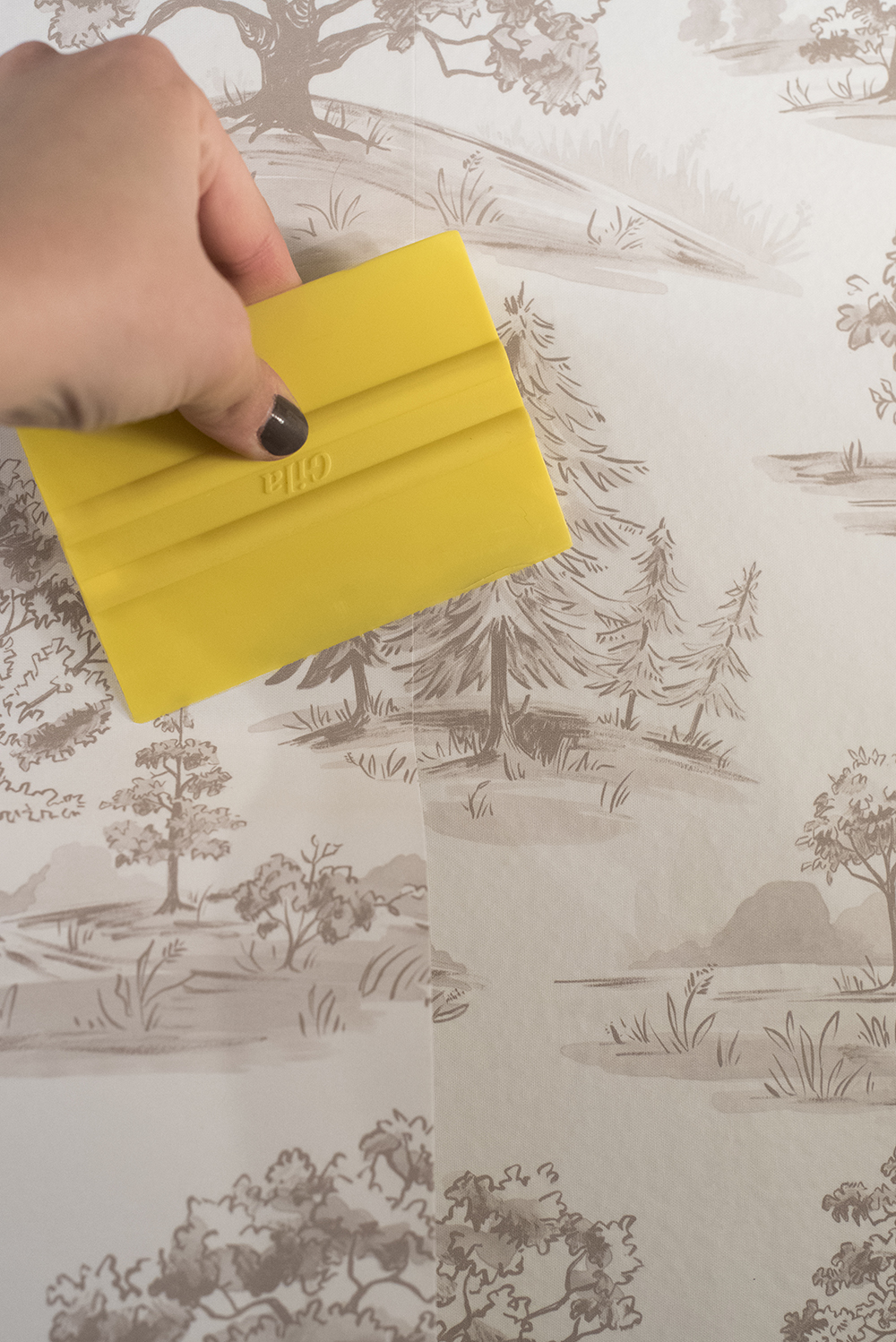 Applying Peel-and-Stick Wallpaper - Room For Tuesday