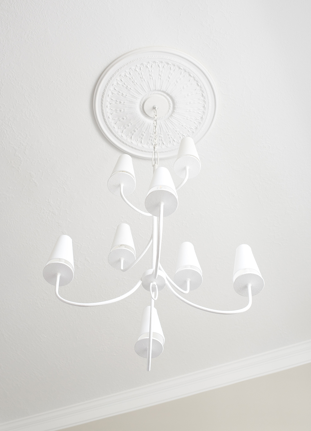 Swapping Our Entryway Chandelier - roomfortuesday.com
