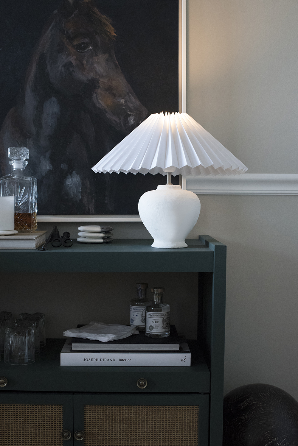 DIY Cordless Plaster Lamp - roomfortuesday.com