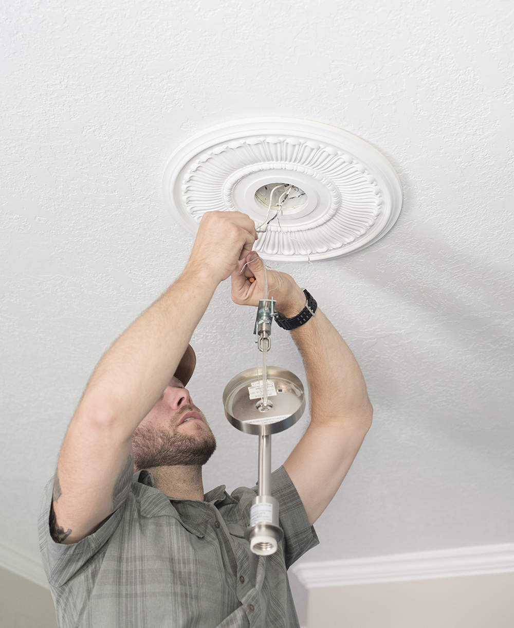 How to Install a Ceiling Medallion - roomfortuesday.com