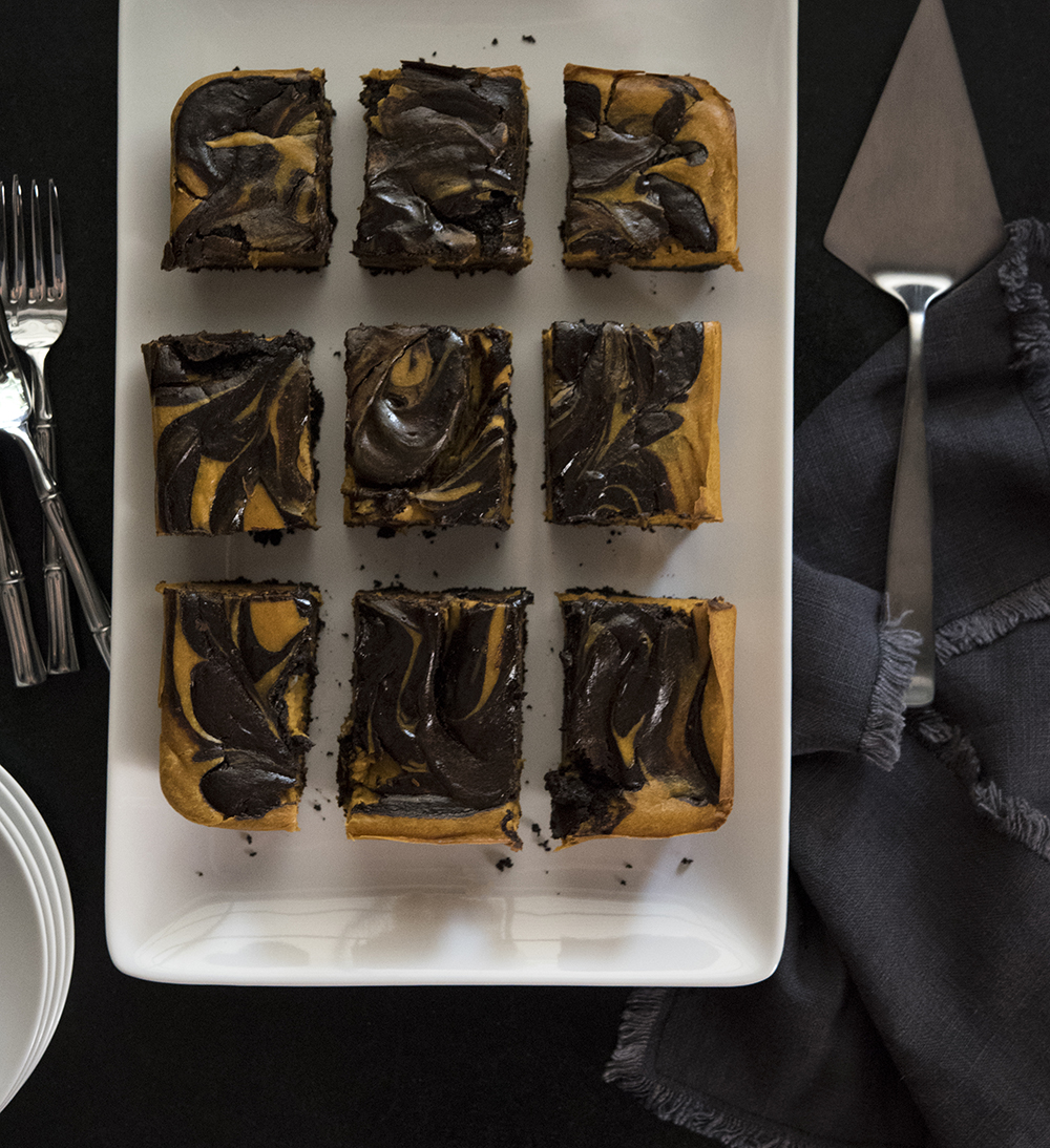 Marbled Pumpkin Cheesecake Bars - roomfortuesday.com