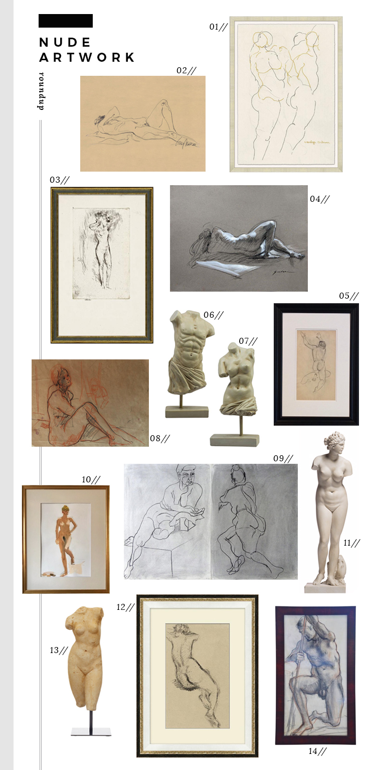 Design Discussion : Nude Art - roomfortuesday.com