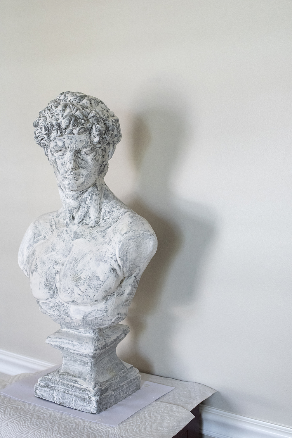 Quick Plaster Bust DIY - roomfortuesday.com