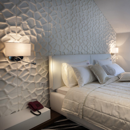 bedroom with wall panel