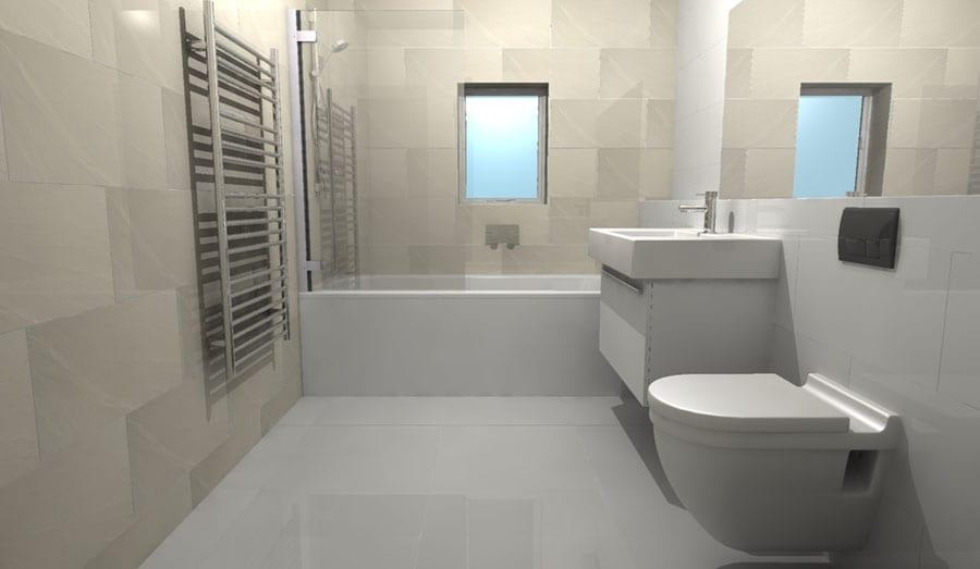 Small bathroom design ideas and images | RoomH2O on Small Space Small Bathroom Tiles Design  id=96267