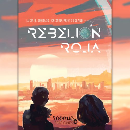 Se puede ver el horizonte en un paisaje anaranjado. El sol sale e ilumina la ciudad. En el cielo se lee «Rebelión Roja» entre las nubes, siendo la «o» de «rebelión» una imagen de la Tierra; y la tilde, la luna creciente. Dos figuras (un chico y una chica) contemplan la escena de espaldas al lector.