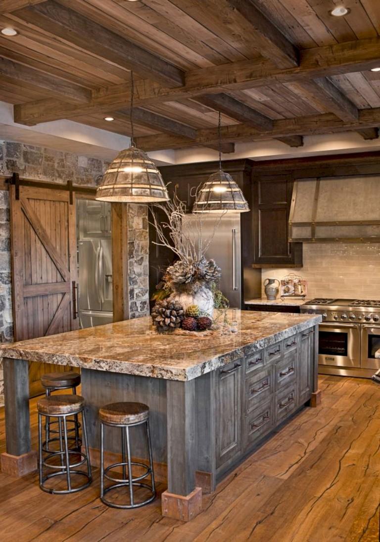 20+ brilliant Rustic Farmhouse Kitchen Island Ideas on Farmhouse Rustic Kitchen Ideas  id=91276