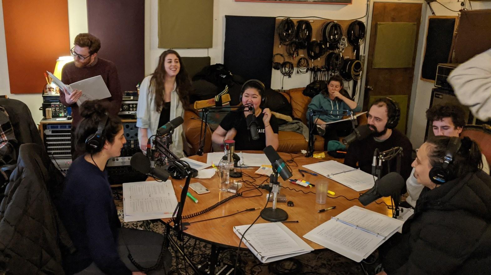 Season 2 cast at the studio