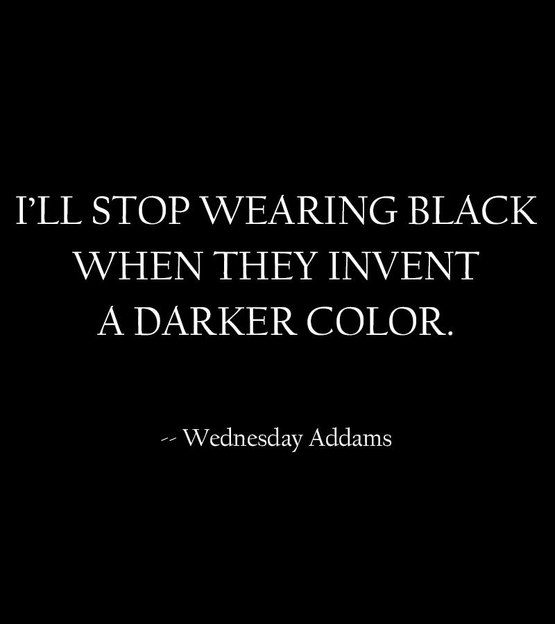 wearing black 2