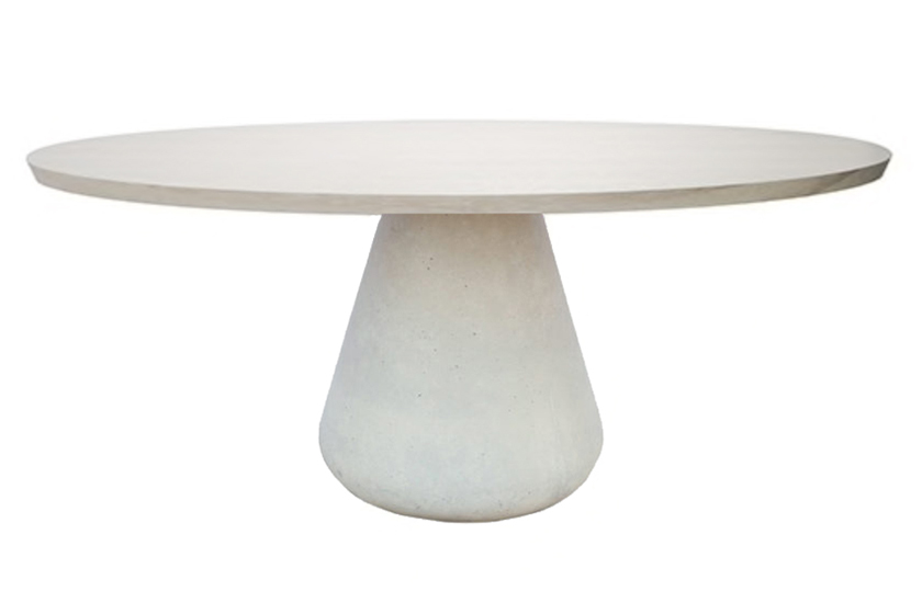 Beton with bleached maple oval top