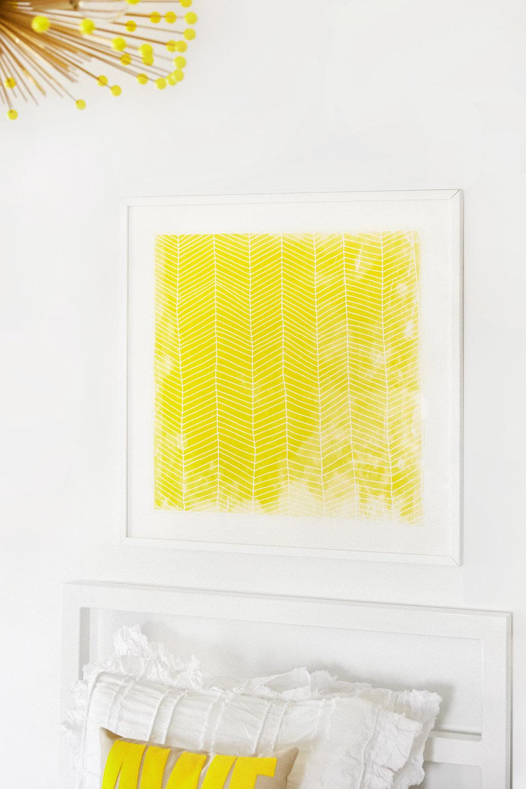 Yellow Herringbone Art