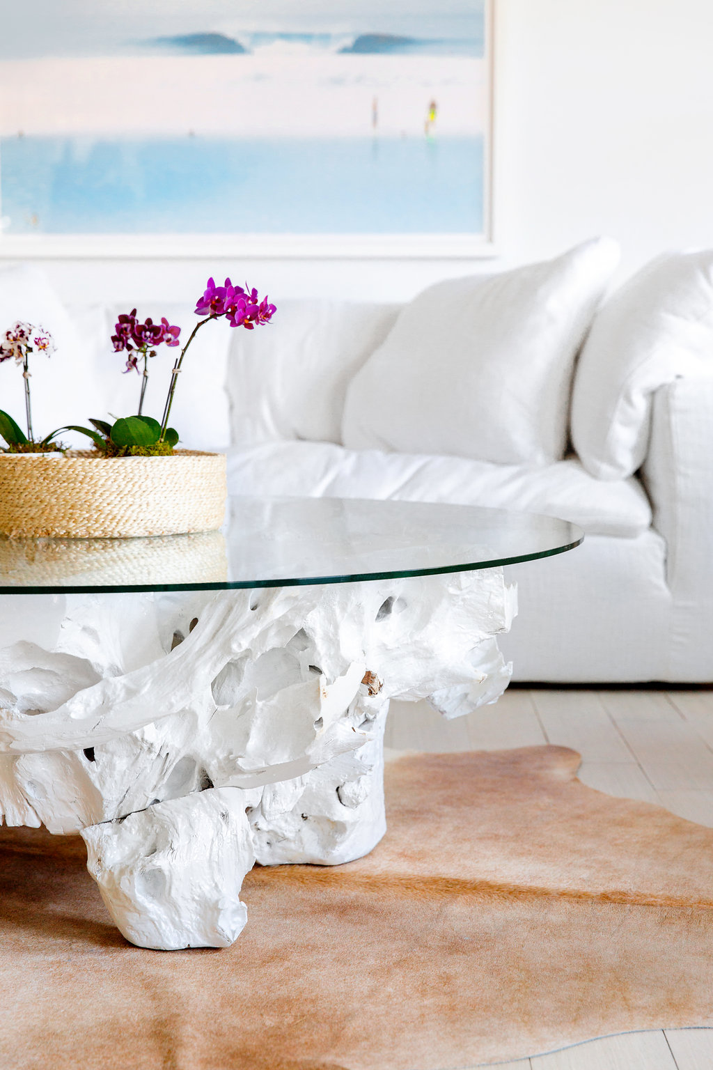 White Teak Coffee Table