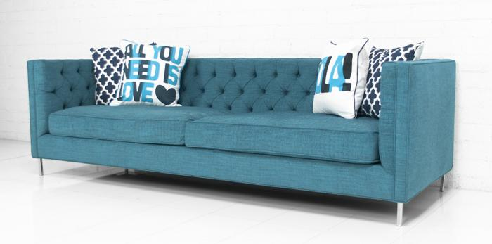 Tufted 007 Sofa In Turquoise