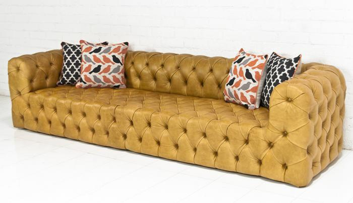 Palm Beach Sofa In Caramel Leather