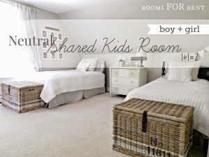 Neutral Shared Kids Room Reveal