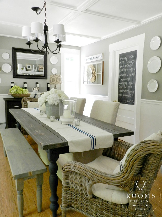 Our house rooms for rent blog for Farmhouse dining room ideas