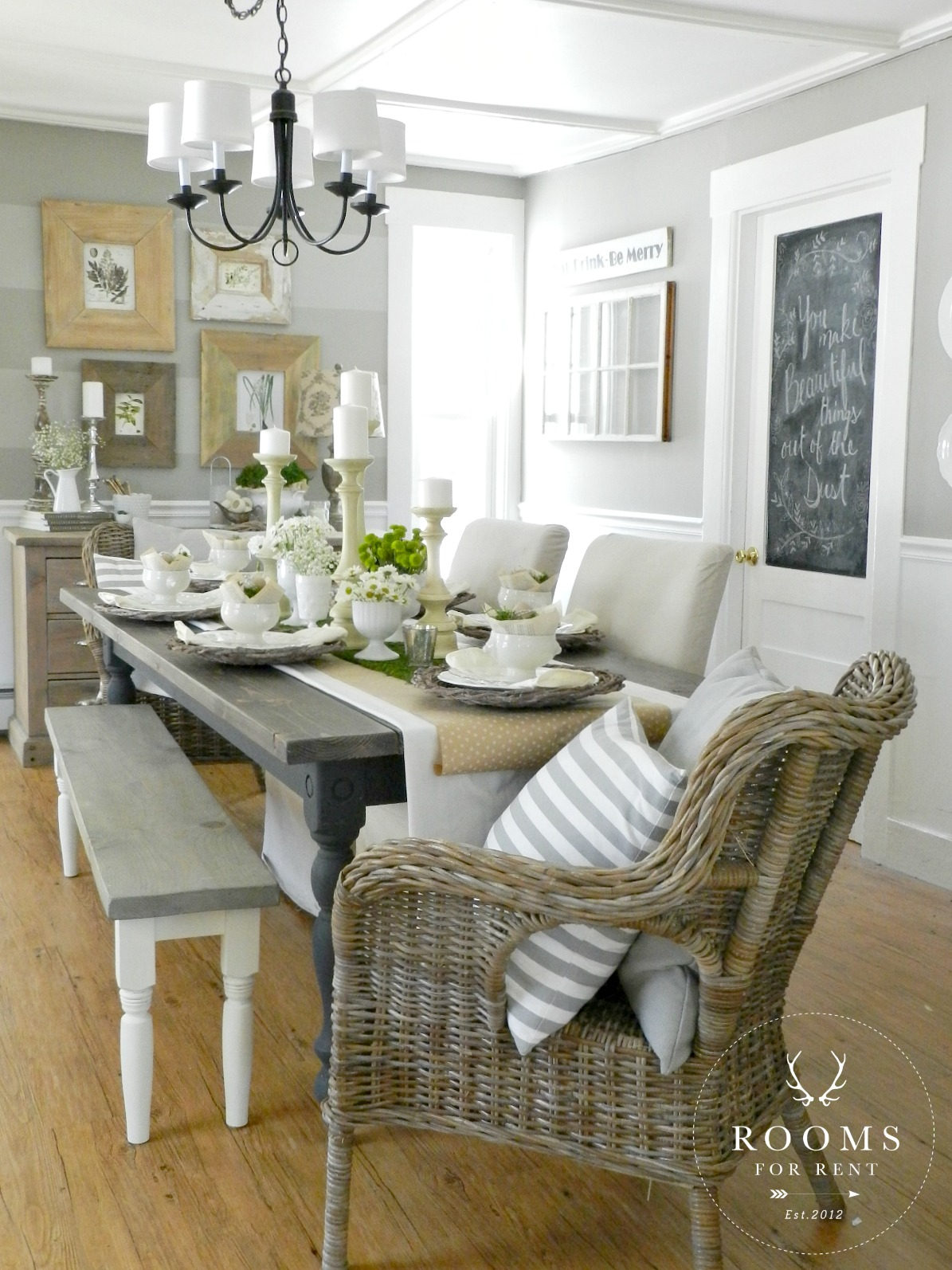 Our Spring Dining Room: Spring Home Tour {2015}