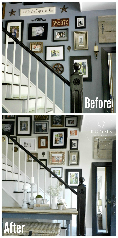 Photo Wall Collage Bedroom Dark