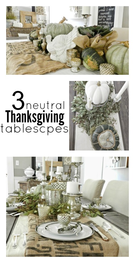 neutral tablescapes collage