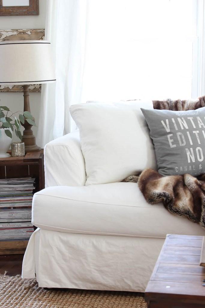 White Slip-Covered Sofa | Rooms FOR Rent Blog