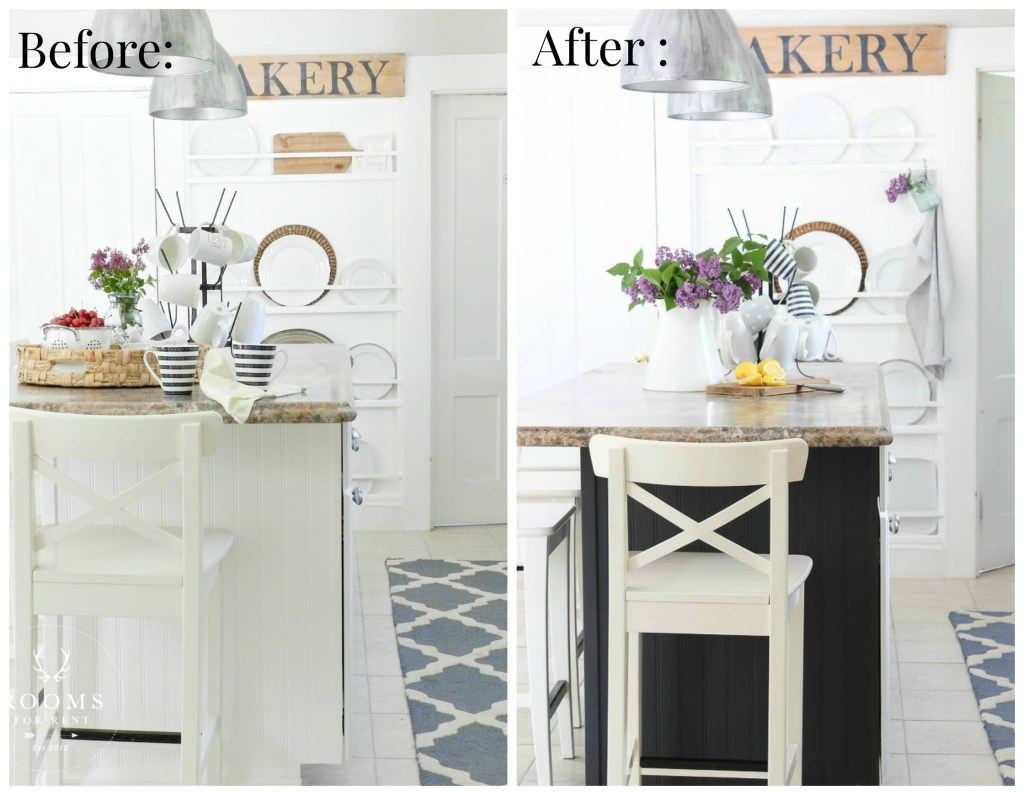 Kitchen Island Before & After