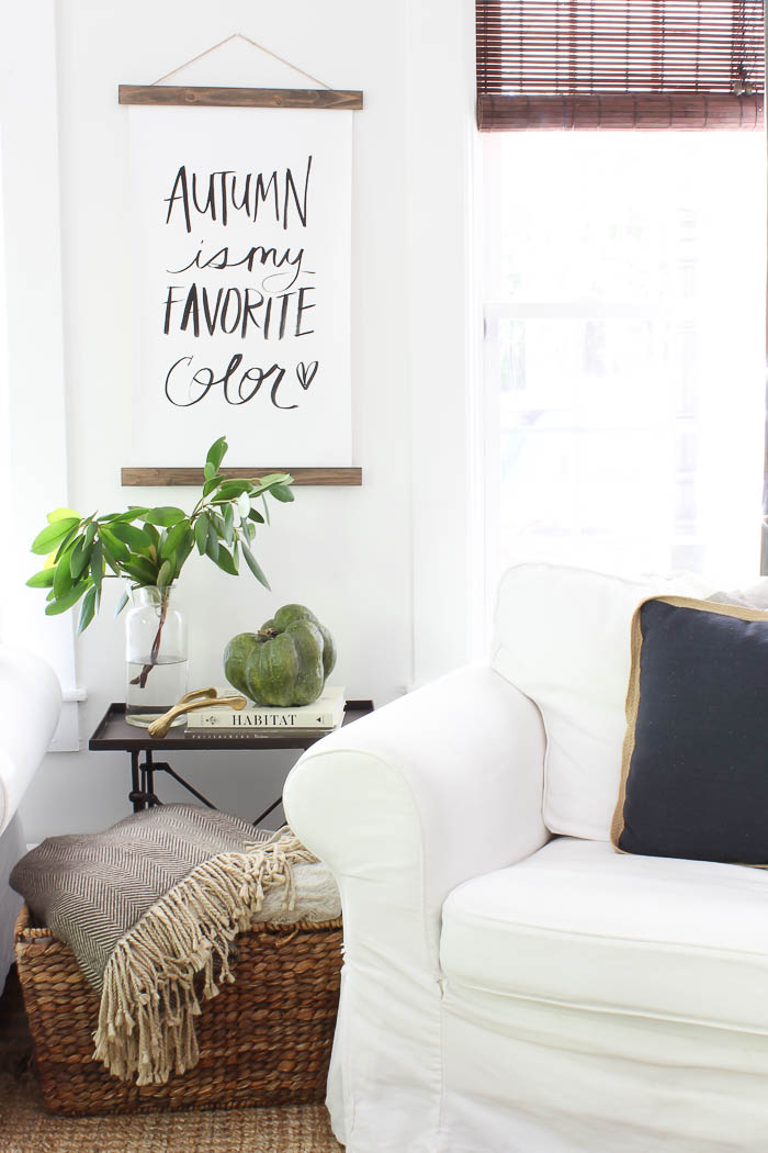 Farmhouse fall living room rooms for rent blog - Room decor for small rooms ...
